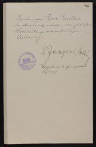 Ungari esindaja kiri Eesti välisministrile (allikas: Rahvusarhiiv)