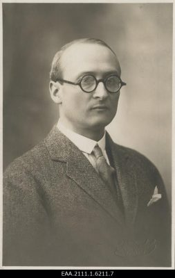 Csekey István. Kép: Észt Nemzeti Levéltár