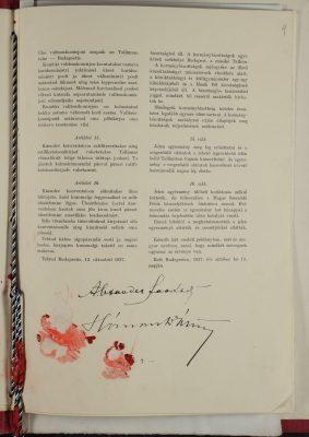 Eesti Vabariigi ja Ungari Kuningriigi vaheline vaimse koostöö konventsioon. Foto: Rahvusarhiiv