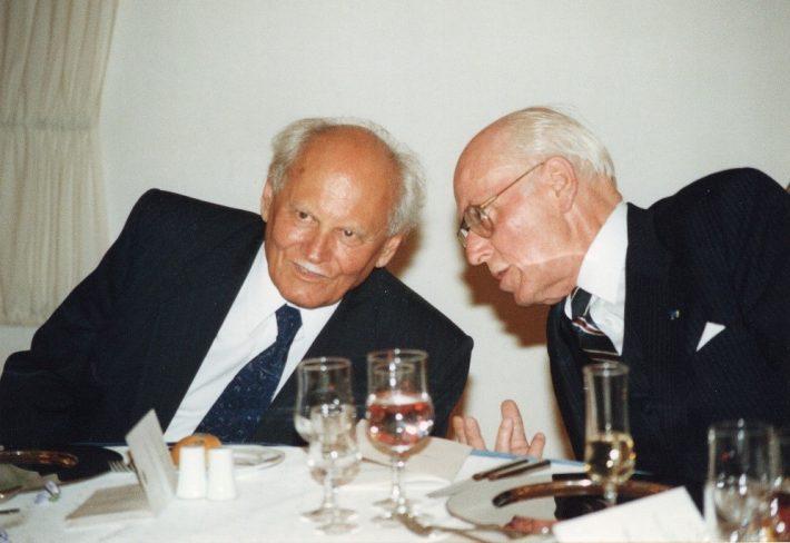 Presidendid Árpád Göncz ja Lennart Meri. Foto: Eesti välisministeeriumi arhiiv