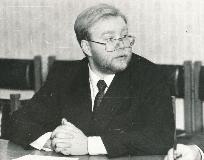 Mart Laar miniszterelnök. Kép: Postimees, fotó: Ain Protsin
