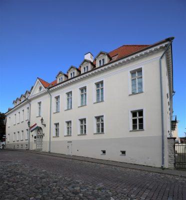 A Magyar Intézet Tallinnban, a Piiskopi 2. címen. Kép: Kulturális emlékek jegyzéke, fotó: H. Kuningas, 2020.