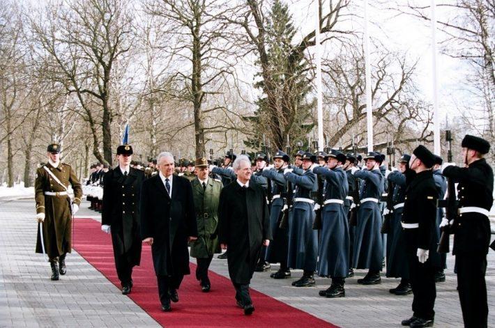 Arnold Rüütel, Észtország köztársasági elnöke és Sólyom László, Magyarország köztársasági elnöke. Kép: az Észt Külügyminisztérium Levéltára